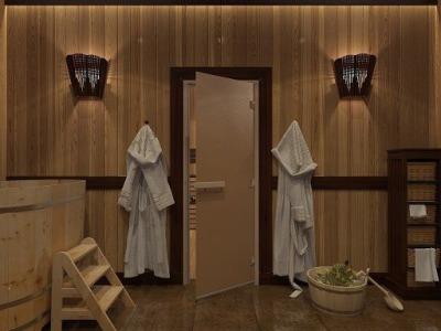Дверь стеклянная бронзовая матовая DOORWOOD 700х1900